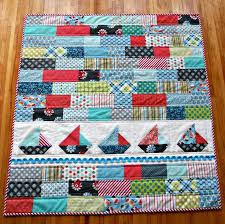 108 best Sailboat Quilt Ideas images on Pinterest | Beach house ... & baby quilt with sailboats Adamdwight.com