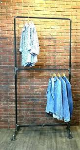 pvc closet rack pipe clothes rack industrial clothing double row heavy duty space saver closet rod