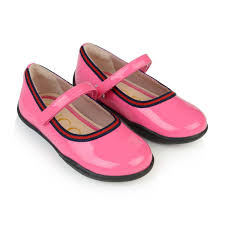 gucci girls pink patent leather shoes