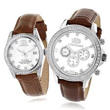 men s diamond watches save 50 80% on diamond wrist watches matching his and hers watches luxurman white gold plated diamond watches