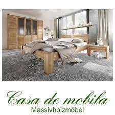 Echtholz Schlafzimmer komplett Kernbuche massiv HERCULES - Bett ...