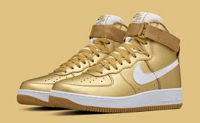 Image Retro Gold Nike Air Force Og Stockx Nike Goes For The Gold On Air Force Retro Sole Collector