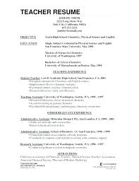 Teacher Resume Objective Awesome 28 Teacher Resume Objectives Sample Templates Objective For Teachers