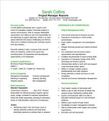 Project Manager Resume Templates Enchanting Project Manager Resume Template 28 Free Word Excel PDF Format