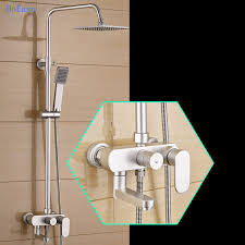 thermostatic brand bathroom: bathroom thermostat dofaso hand held shower chrome finish wall mount  inch font b thermostatic b font font