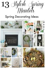 see how to make these 13 gorgeous and stylish spring mantels easy fireplace mantel diy