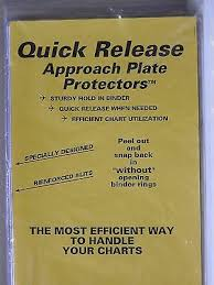 Jeppesen Chart Protectors Quick Release Approach Plate Protectors For 7 Ring Binders Jeppesen 10 Pack Ebay