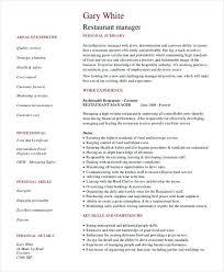 Restaurant General Manager Resume Restaurant Manager Resume Beauteous Restaurant General Manager Resume