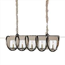 decorative 5 light rectangular chandelier from currey company large chandelier with two levels of lights clear glass cylinders