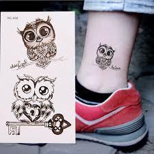 1ks Makeup Roztomilý Sova Tattoo Rameno Tělo Umění Vodotěsné Dočasné Tetování Samolepky At Vova