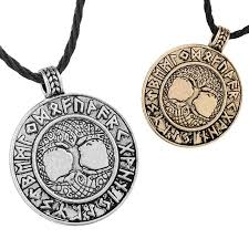 whole yggdrasil pendant world tree pendant necklace retro tree of life viking necklace engraved runes necklace norse jewelry statement necklaces gold