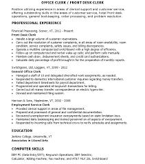 hotel clerk resume qhtypm general office assistant resume examples general office clerk resume general office clerk resume data office assistant resume cover letter general office