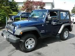 jeep wrangler sport sport suv doors true blue pearl in seattle wa seattlewau with jeep rubicon 4 door blue