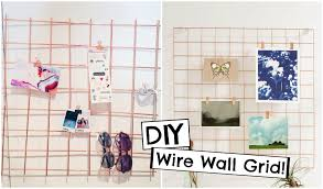 diy urban outfitters inspired copper wire wall grid back to school organization you