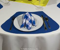 round tables placemats have three layers top fabric heat sensitive stiffener and bottom fabric after repeated washings placemats will require