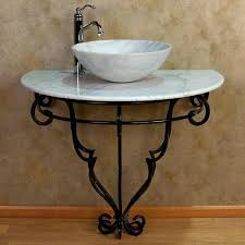 full size of sinks metal console sink stands the oak hill inch single sink console