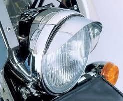 7 chrome headlight visor for harley davidson ebay