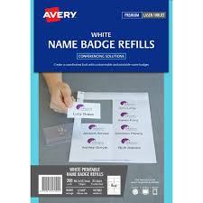 Avery 947002 L7418k Name Badge Card Refills Inkjet Laser