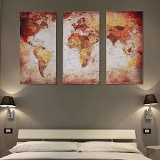 Wall paintings for office Corporate Office Dilwe 3pcs Unframed Canvas World Map Wall Art Painting Pictures Home Office Modern Decoration Canvas Wall Art Printingwall Art Printing Walmartcom Amazoncom Dilwe 3pcs Unframed Canvas World Map Wall Art Painting Pictures Home