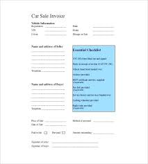 Excel Sales Invoice Template Car Invoice Template Free Download Sales Excel Helenamontana Info