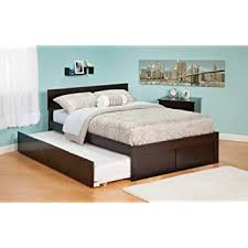 platform bed with trundle.  Trundle Atlantic Furniture Orlando Urban Twin Trundle Platform Bed In Espresso For With T