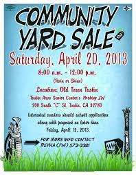 Yard Sales Flyers Cjsouthworth Com
