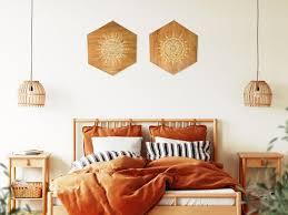 bedroom wall decor above bed boho wall