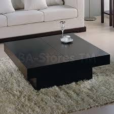 black coffee table. Nile Square Storage Coffee Table | Wenge Black