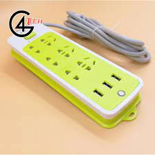 Ổ cắm điện đa năng 16 lỗ xanh có cổng USB tiện dụng - Ổ cắm điện