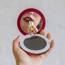 pearl compact mirror usb battery pack 3000mah hand holding mirror t36 hand