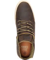 vans otw alcon brown leather mens work boots
