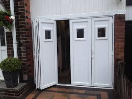 folding garage doorsAmazing Folding Garage Doors with White Pvcu Bifold Doors Fitted