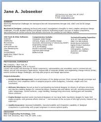 Technical Designer Resumes Mechanical Designer Resume Templates Experienced Creative Resume