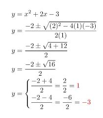 what is the quadratic formula