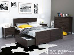 Queen Size Bedroom Furniture Dandenong Queen Bed Storage Modern B2c Furniture