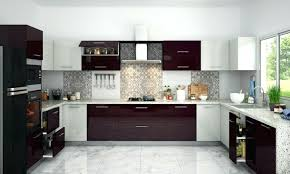 royal kitchen decor selection white wooden cabinets blue