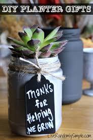 DIY Succulent Mason Jar Gifts