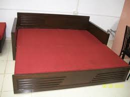 beds for sale online. Sheesham Wood Sofa Cum Bed With Mattress - Used For Sale In North Vadodora Click.in Beds Online