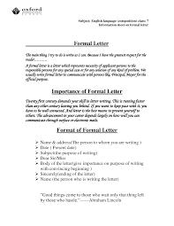Format Of Official Letter Official Letter Format Templateofficial Letter Business Letter