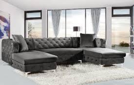 double chaise sectional sofa.  Chaise Velvet 3pcs Double Chaise Sectional Sofa With Double Chaise Sectional Sofa S