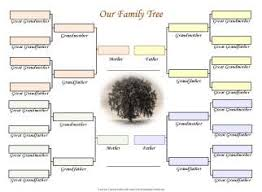 Printable Charts Free Family Trees For 3 Generations Of Two Families