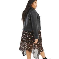 oasis black curve faux leather stitch biker jacket lyst view fullscreen