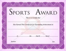 Sport Certificate Templates Bing Images School Pinterest
