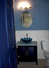dark blue bathroom accessories. bathroom:cozy royal blue bathroom accessories with mirror also wood door ideas awesome dark o