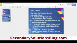 Google Presentations For The Classroom Youtube