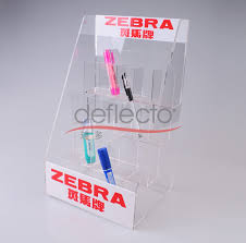 Bra Display Stand Acrylic pen holderZebra Desktop Pen Display Stand Made In China 52
