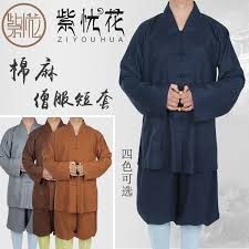 USD 78.76] Buddhist cotton and linen monks dress short sets of short sets  of men and women summer and autumn monk clothes nun clothing. - Wholesale  from China online shopping | Buy