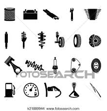auto parts clip art. Interesting Art Auto Parts Icon Set On Gray Background Throughout Parts Clip Art U