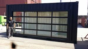 Commercial glass garage doors Frosted Glass Commercial Glass Garage Door Full View Aluminum Clear Glass Ccrnow Commercial Glass Garage Door Full View Aluminum Clear Glass