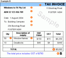 Tax Invoices